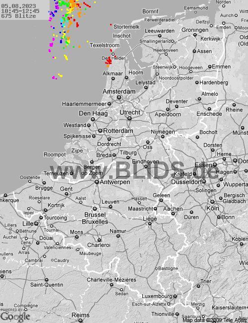 Aktuelle Gewitterlage Benelux