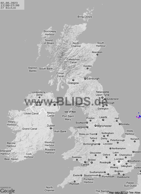 Onweer UK bij meteotines