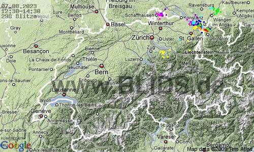 Onweer Zwitserland op Meteo Bleiswijk