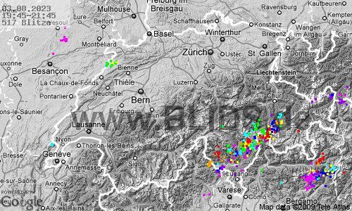 Aktuelle Gewitterlage Schweiz