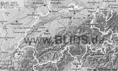 Gewitterkarte Allgäu
